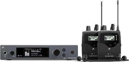Sennheiser Pro Audio Sennheiser ew IEM G4-Twin Ear Monitor System w/ 2 Belt Packs Range A1 (470-516Mhz), Dual Beltpack