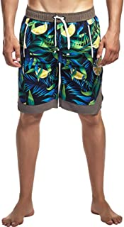 AIEOE Men Swim Trunks Quick Dry Swimwear Casual Beach Short