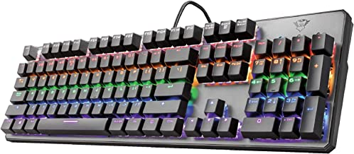 Trust Gaming GXT 865 Asta Mechanisch Gaming Toetsenbord met Rode Switches (Linear & Silent, QWERTY Layout, LED Verlichtin...
