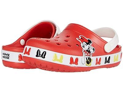 Crocs Kids Fun Lab Disney Minnie Mousetm Band Clog (Toddler/Little Kid) (Flame) Girl