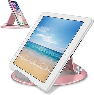 タブレット スタンドGOOJODOQ スマホ スタンド ipad スタンド アルミ合金素材角度調整可能 卓上 ホルダiPad/iphone/Kindle/NintendoSwitch/Android 3.5〜12インチ互換 (ローズゴールド)