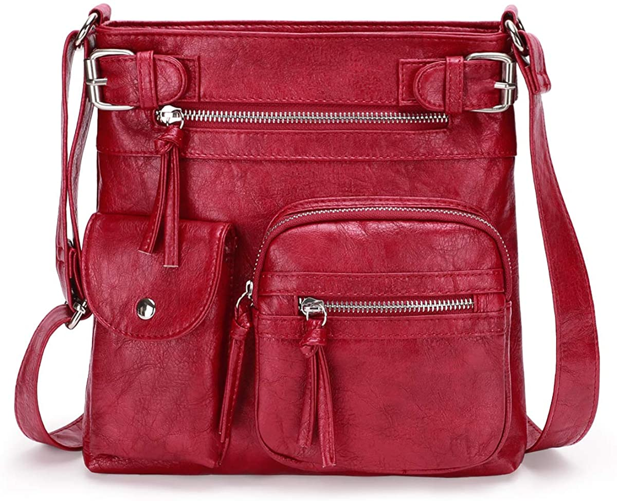 KL928 Louisville-Jefferson County Mall Crossbody Purses for Women Shoulder Superior Washed Leather Bag PU