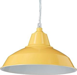 Relaxdays 10020475_48 luminaire Lampe à Suspension Abat-Jour en métal avec Couleur pétante Tendance HxlxP: 112 x 28 x 28 c...
