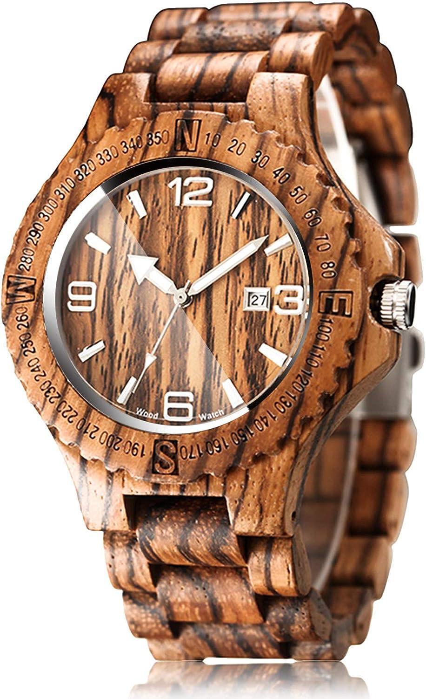 New product CUCOL Wood Grain Watch Handmade Q Max 84% OFF Wrist Wooden Lightweight