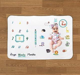 Manta de bebé con diseño de hitos