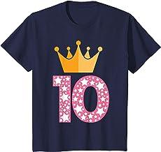 Kinder 10. Geburtstag Mädchen 10-jährig 10 Jahre Krone Geschenk T-Shirt