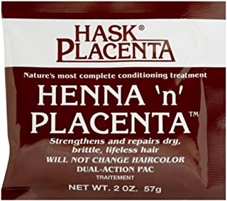 Hask Henna 'n' Placenta Conditioning Treatment, 2 oz (Pack of 2)