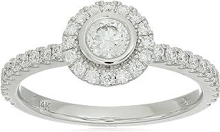 14K White Gold 0.52ctw Diamond Ring