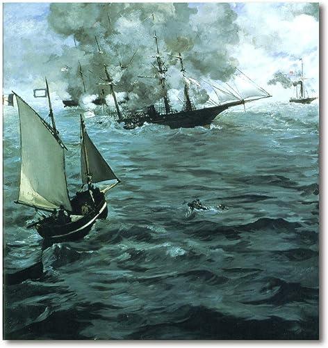 punto de venta Cuadro Decoratt  Combate del Kearsarge y el el el Alabama - Eduard Manet 75x80cm. Cuadro de impresión directa.  ¡No dudes! ¡Compra ahora!