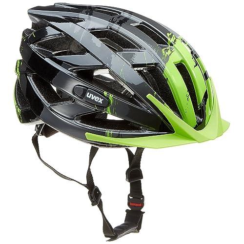 Uvex I-Vo C Casco de Ciclismo, Unisex Adulto, Negro/Verde,