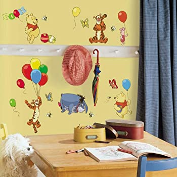 Amazon Com Roommates Winnie The Pooh Pooh Peel And Stick Inches Growth Chart Home Improvement