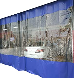 With Holes Shed Cloth clear tarp Thick Plastic Cover Tarp- With Eyelets PVC Outdoor Waterproof Curtain for Pergola, Terrac...