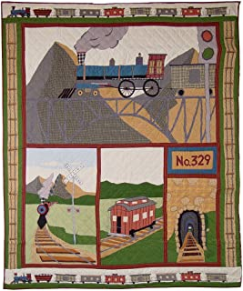 Patch Magic Train King Quilt, 95-Inch by 105-Inch