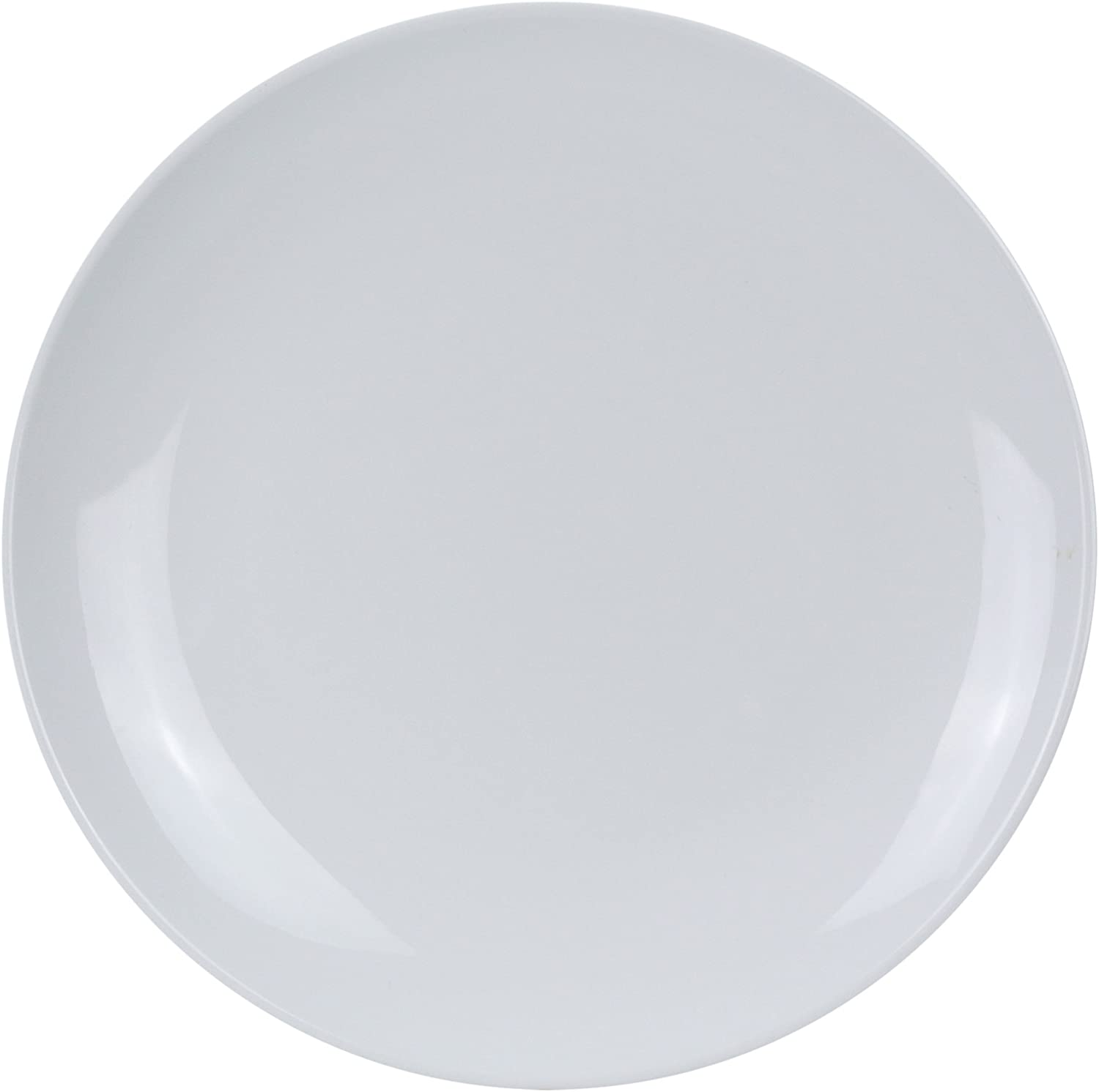 Yanco CO-107 Coupe Pattern Round Plate, 7  Diameter, Melamine, White color, Pack of 48