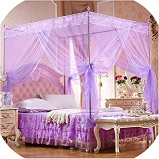 Student Canopy No Frame Mosquito Repellent Tent Insect Reject Canopy Bed Curtain Bed Tent,Purple Twin