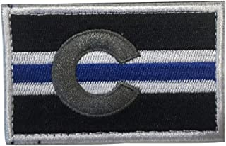 SpaceAuto Colorado State Flag Tactical Morale Patch Thin Blue Line