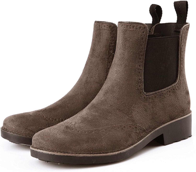 XIUWU Women's Waterproof Ankle Boots Stylish Outdoor Rain Footwears