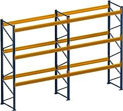 Palletrek, rek voor zware lasten, 5,60 m x 7,50 m (lxh), 2 veld/rek van 2050 kg, met 24 plaatsen
