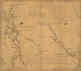 マップ: 1771AプランのTombecbe河川の一部、アラバマ、Tensa、Perdido、& Scambia in the Province of West Florida ; with aスケッチの間の境界the Nation of U...
