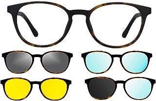 Ultem - Thema U-285 Color M07 Tortuga Montura para gafas de vista y sol + 4 clip-on Línea Original