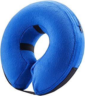 Hyan Pet Protective Recovery Inflatable Collar-Soft Adjustable Comfortable Pet E-Collar for Dogs and Cats -Surgery Recover...