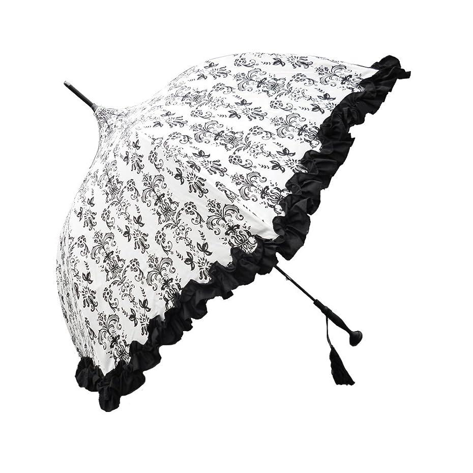 影響モールス信号熱帯のラルイス アラベスク晴雨兼用傘 全3色 長傘 手開き 日傘/晴雨兼用 ホワイト 8本骨 55cm UVカット グラスファイバー骨 03AKS-WAR03W [正規代理店品]