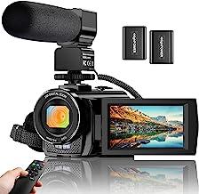 دوربین فیلمبرداری WiFi FHD 1080P 30FPS YouTube ضبط کننده دوربین ضایع کننده ووگرافی 26MP 3.0 اینچ صفحه نمایش لمسی 16X دوربین فیلمبرداری زوم دیجیتال IR در شب دید با دوربین از راه دور ، میکروفون و 2 باتری