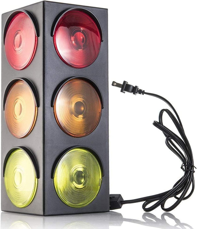 Kicko Luxury Traffic Light Lamp - Triple Sided 12.25 Max 48% OFF Blinking Plug-in