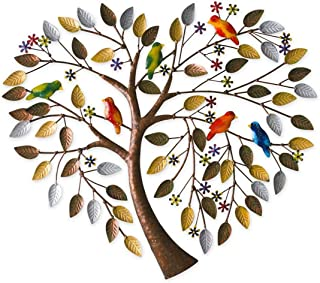 Wind & Weather Handcrafted Heart Tree Metal Wall Art - 21.75 W x 20.5 H x .5 D