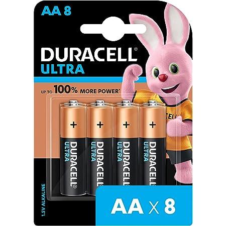 Duracell Ultra Alkaline AA Battery, 8 Pieces