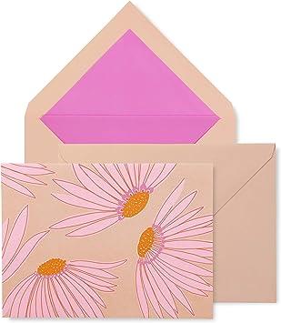 Pink floral card /& envelope set