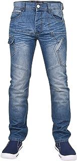 4ab2b31030 Enzo Uomo Denim Jean Pantaloni Straight Fit Regular Gamba 28 a 40 Taglia