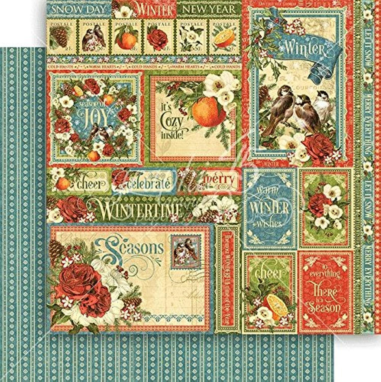 Graphic 45 Seasons Double-Sided Cardstock 12 X12 -Winter Collective B077SHP435  | Wir haben von unseren Kunden Lob erhalten.