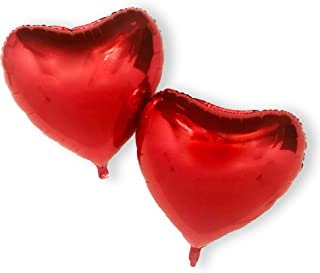 red love heart helium balloons