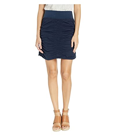 XCVI Wearables Solid Trace Skirt (Anchor Navy) Women