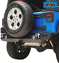 EAG Rear Bumper with LED Lights Fit for 07-18 Jeep Wrangler JK