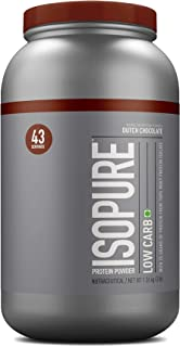 Isopure Low Carb 100% Whey Protein Isolate Powder - 3 lbs, 1.36 kg (Dutch Chocolate)
