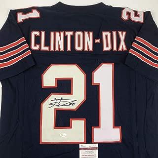 Autographed/Signed Haha Ha Ha Clinton-Dix Chicago Blue Block Football Jersey JSA COA