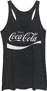 Coca Cola Women's Enjoy Logo Cursive Racerback Tank Top