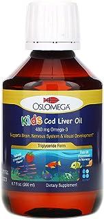 Oslomega Norwegian Kid's Cod Liver Oil, Natural Strawberry Flavor, 480 mg, 6.7 fl oz (200 ml)