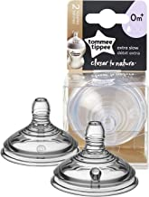 Tommee Tippee Closer to Nature Baby Bottle Nipple Replacement, Extra Slow Flow,0+ Months, Level 0 – 2 Count