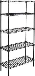 Amazon Basics 5-Shelf Adjustable, Heavy Duty Storage Shelving Unit (350 lbs loading capacity per shelf), Steel Organizer W...