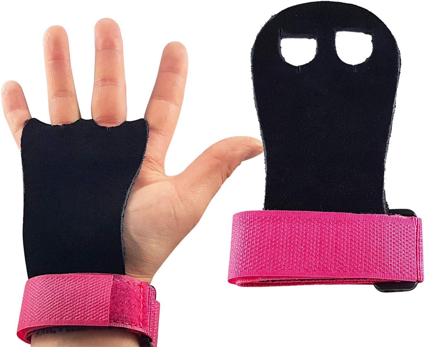 CZ Store®-Par guantes de gimnasia-✮GARANTÍA DE POR VIDA✮-Manoplas de gimnasia de cuero 4 tallas 2 colores Protección de las palmas de las manos durante los ejercicios de tracción/crossfit/barra