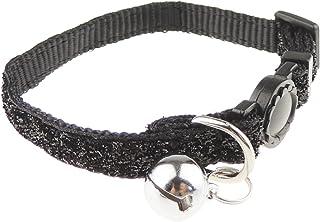 Glamour Girlz Festive Special Sparkly Glitter Cat Kitten Nylon Safety Release Bell Adjustable Collar Black