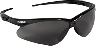 Jackson Safety V30 Nemesis Safety Glasses (22475), Smoke Anti-Fog Lens with Black Frame, Pack of 12