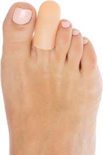 ZenToes 6 Pack Gel Toe Cap and Protector - Cushions and Protects to Provide Relief from Missing or Ingrown Toenails, Corns, Blisters, Hammer Toes (Small, Beige)