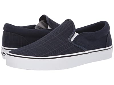 Vans Classic Slip-Ontm ((Suiting) Dress Blue/True White) Skate Shoes