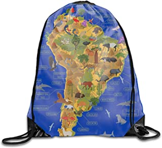 South America Floral Travel Drawstring Bag Shoe Laundry Underwear Makeup Storage Pouch