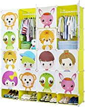 Closet Portable Wardrobe for Hanging Clothes, Combination Armoire, Modular Cabinet for Space Saving,Storage Organizer with...