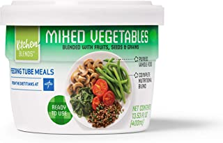 Medline Kitchen Blends Feeding Tube Meals, Ready to Use Tube Feeding Meals, Mixed Vegetables (12 Pack)